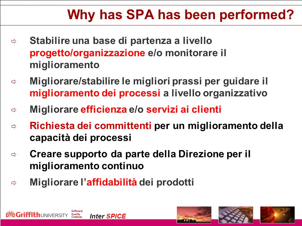 Why has SPA has been performed