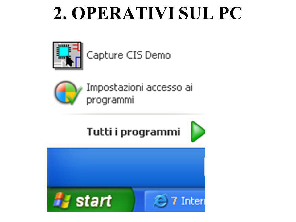 2. OPERATIVI SUL PC