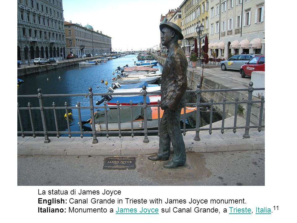 La statua di James Joyce