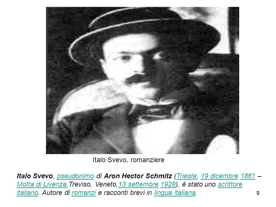 Italo Svevo, romanziere