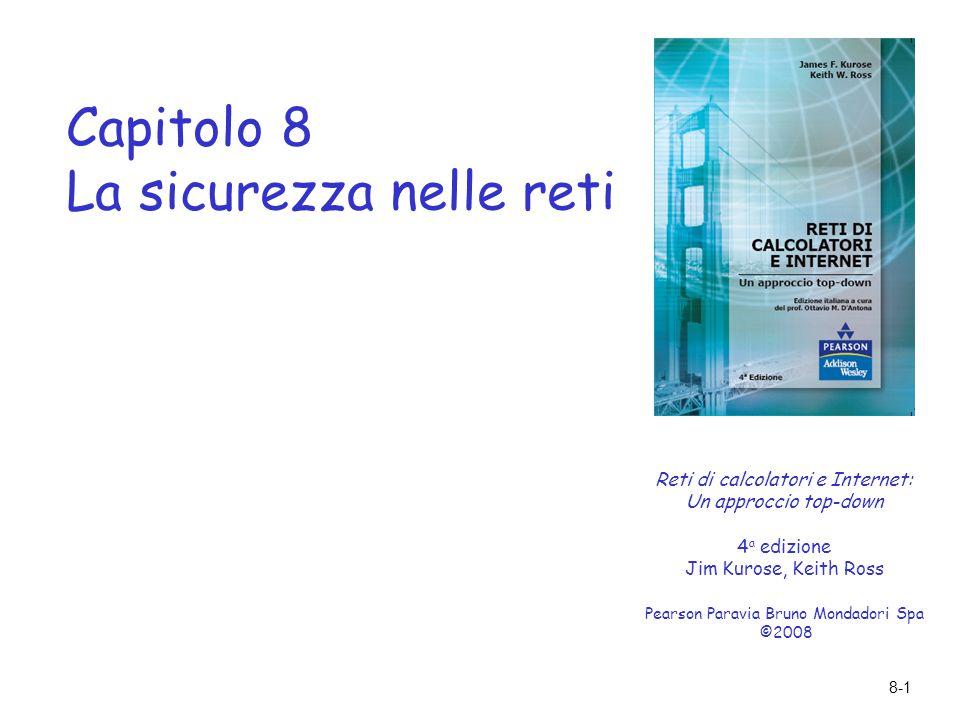 Capitolo 8 La sicurezza nelle reti