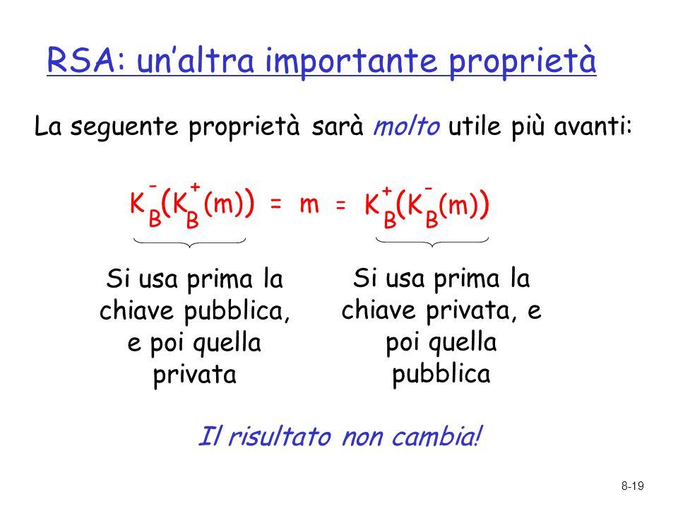 RSA: un'altra importante proprietà
