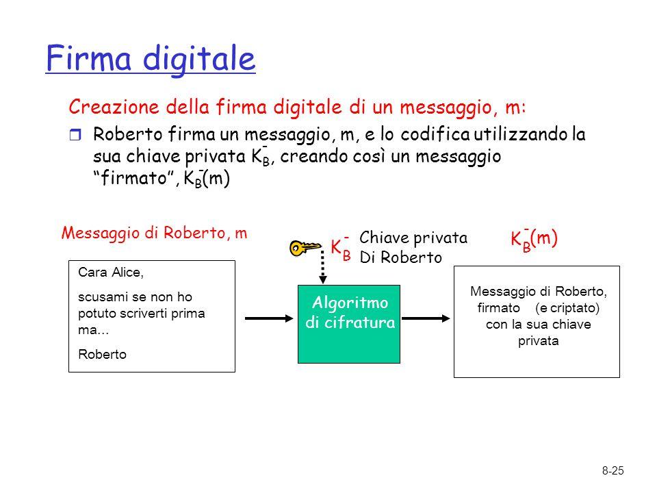 Messaggio di Roberto, firmato (e criptato) con la sua chiave privata