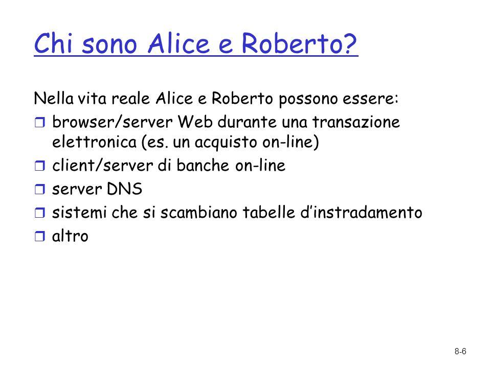 Chi sono Alice e Roberto