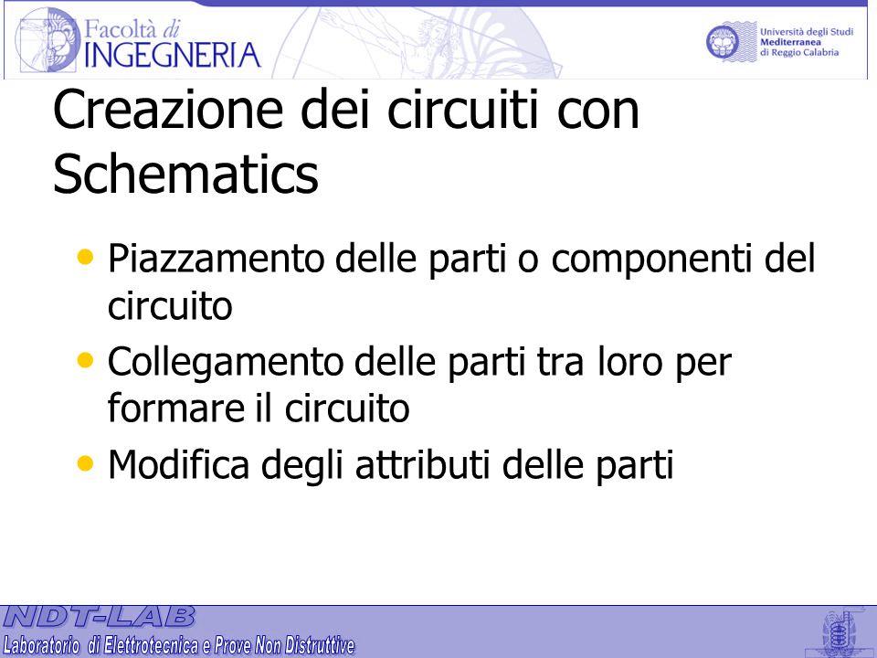 Creazione dei circuiti con Schematics