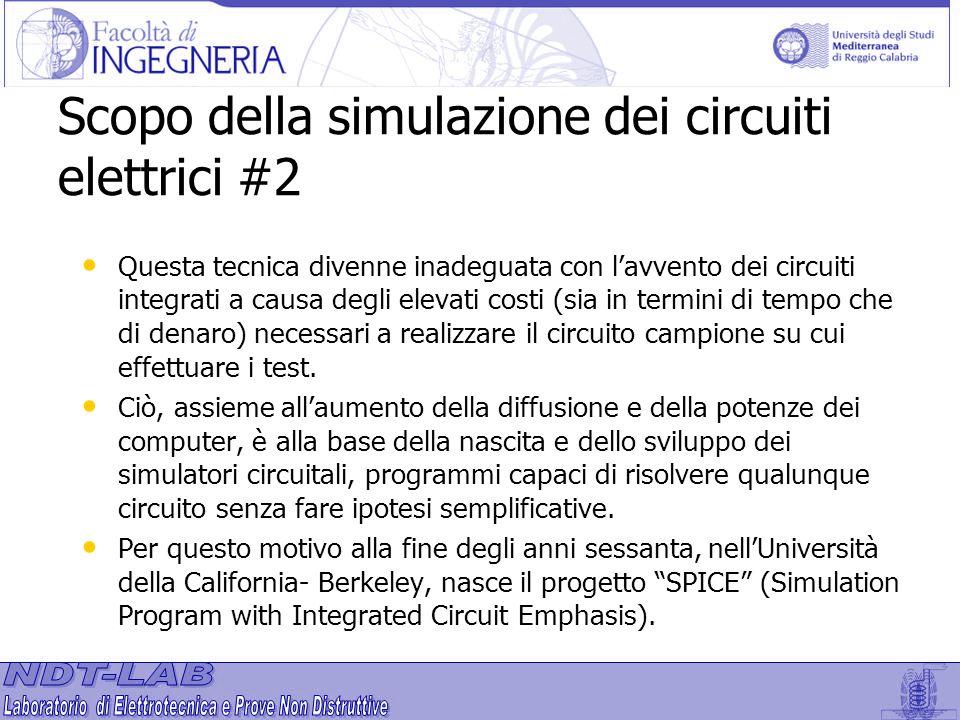 Scopo della simulazione dei circuiti elettrici #2