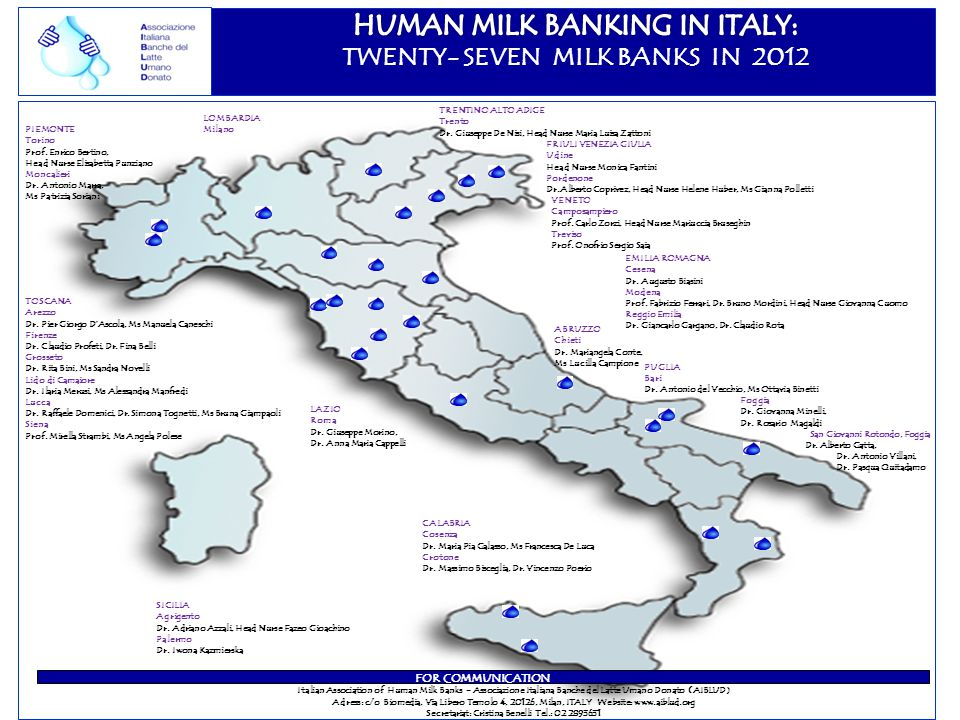 TWENTY- SEVEN MILK BANKS IN 2012
