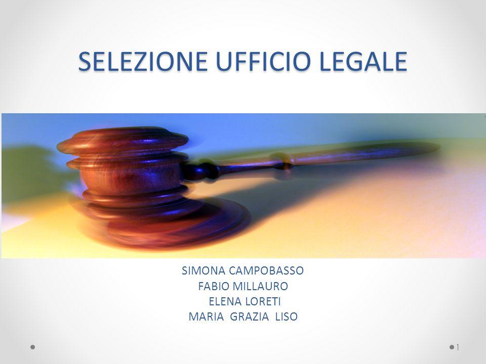 SELEZIONE UFFICIO LEGALE