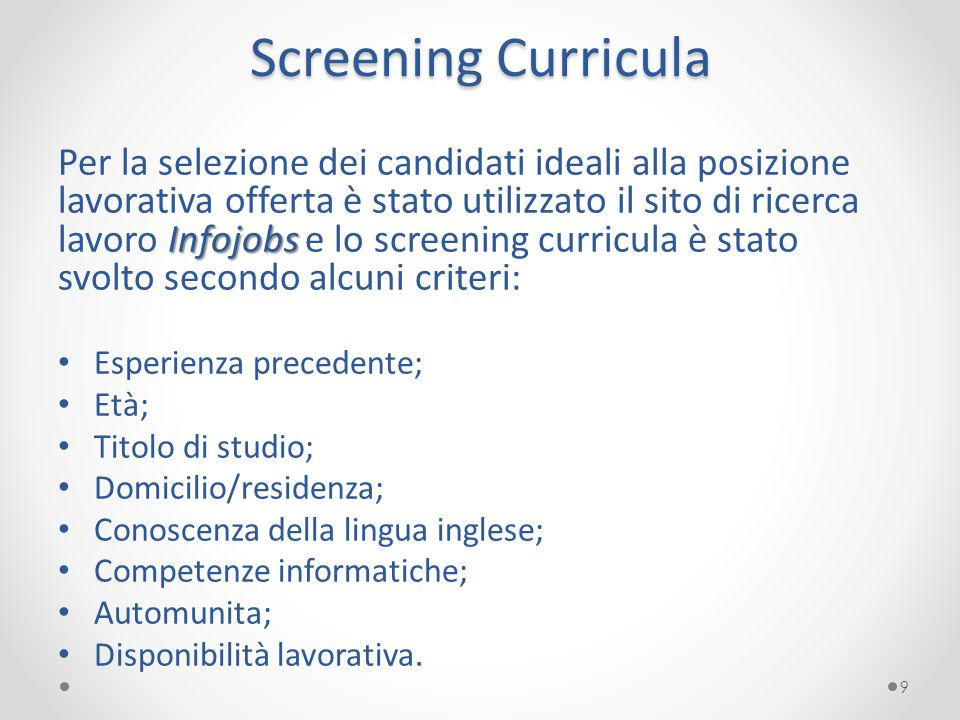 Screening Curricula