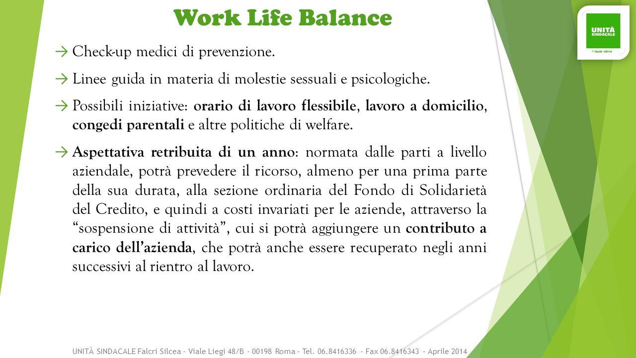 Work Life Balance Check-up medici di prevenzione.