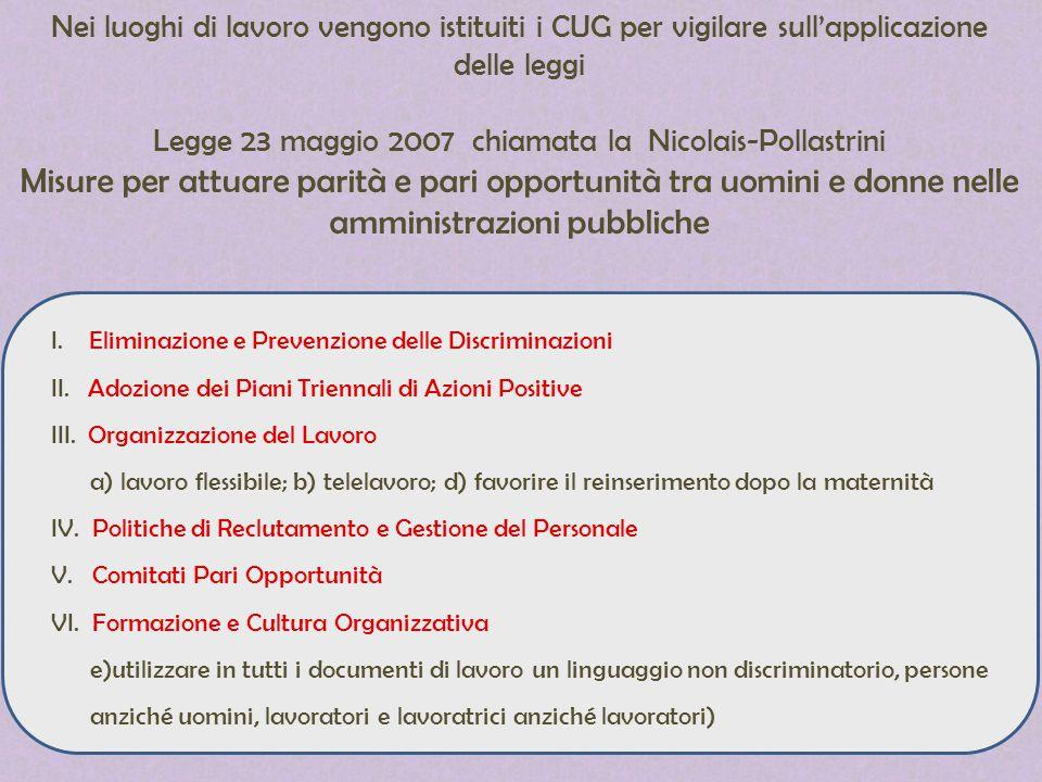 Legge 23 maggio 2007 chiamata la Nicolais-Pollastrini