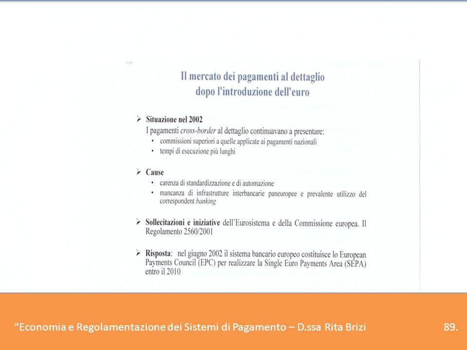 6.Il Sistema dei pagamenti europeo – I sistemi retail e la SEPA (1)