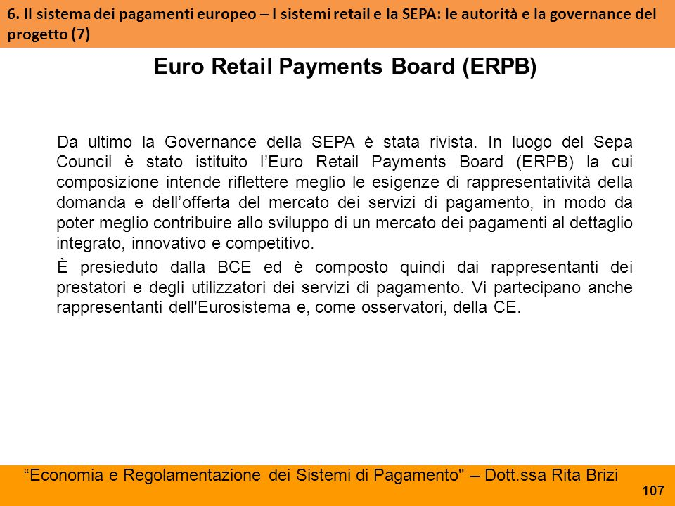 Euro Retail Payments Board (ERPB)
