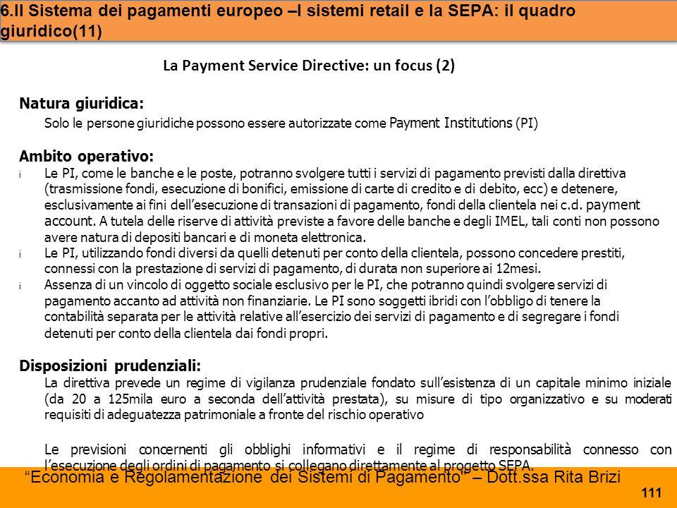 La Payment Service Directive: un focus (2)