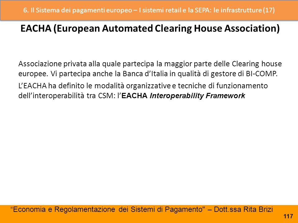 EACHA (European Automated Clearing House Association)