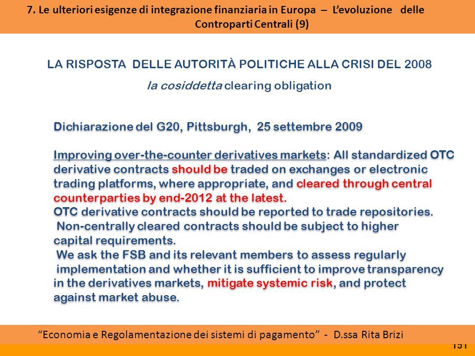 Approvazione RTS da parte della Commissione