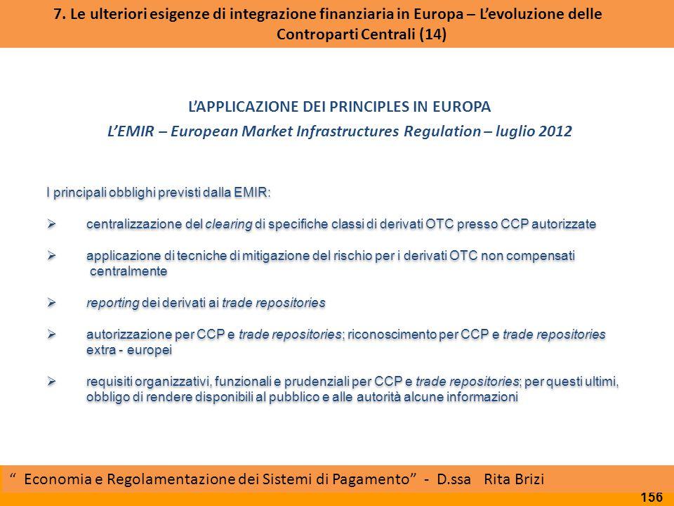 L'APPLICAZIONE DEI PRINCIPLES IN EUROPA