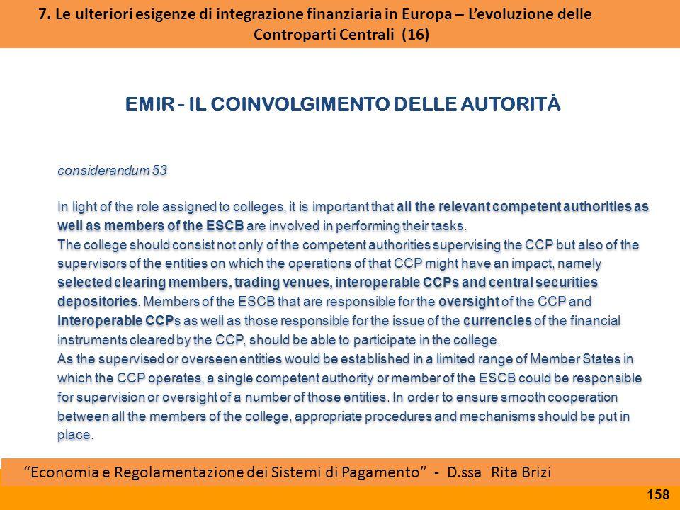 EMIR - Il coinvolgimento delle autorità