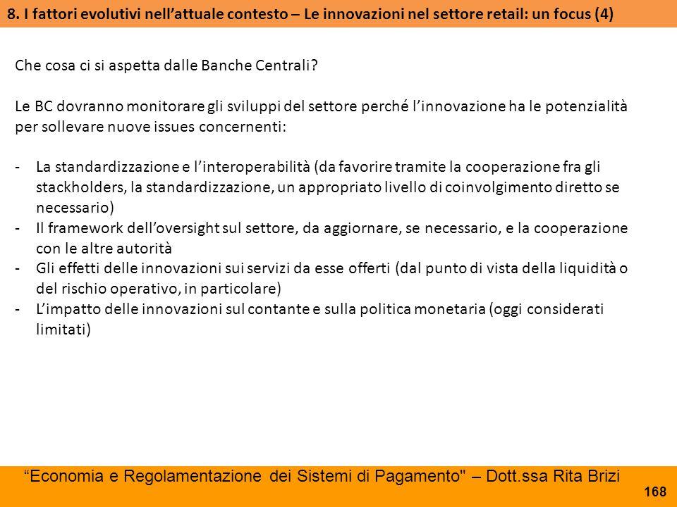 8. I fattori evolutivi nell'attuale contesto – Le innovazioni nel settore retail: un focus (4)