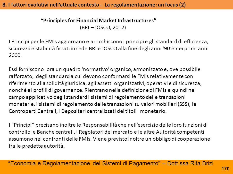 8. I fattori evolutivi nell'attuale contesto – La regolamentazione: un focus (2)