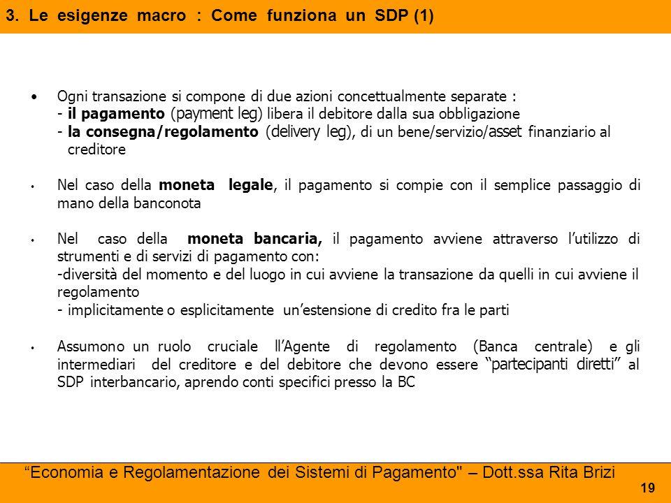 3. Le esigenze macro : Come funziona un SDP (1)