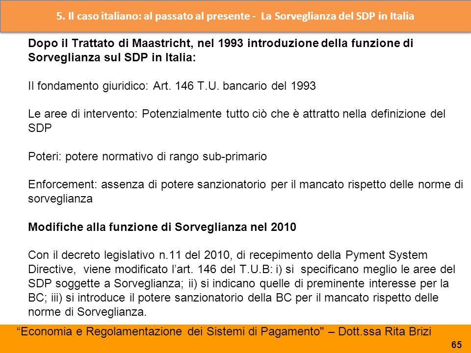 5. Il caso italiano: al passato al presente - La Sorveglianza del SDP in Italia