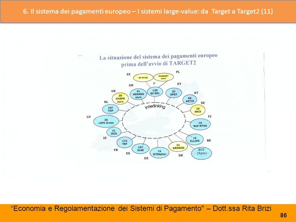6. Il sistema dei pagamenti europeo – I sistemi large-value: da Target a Target2 (11)
