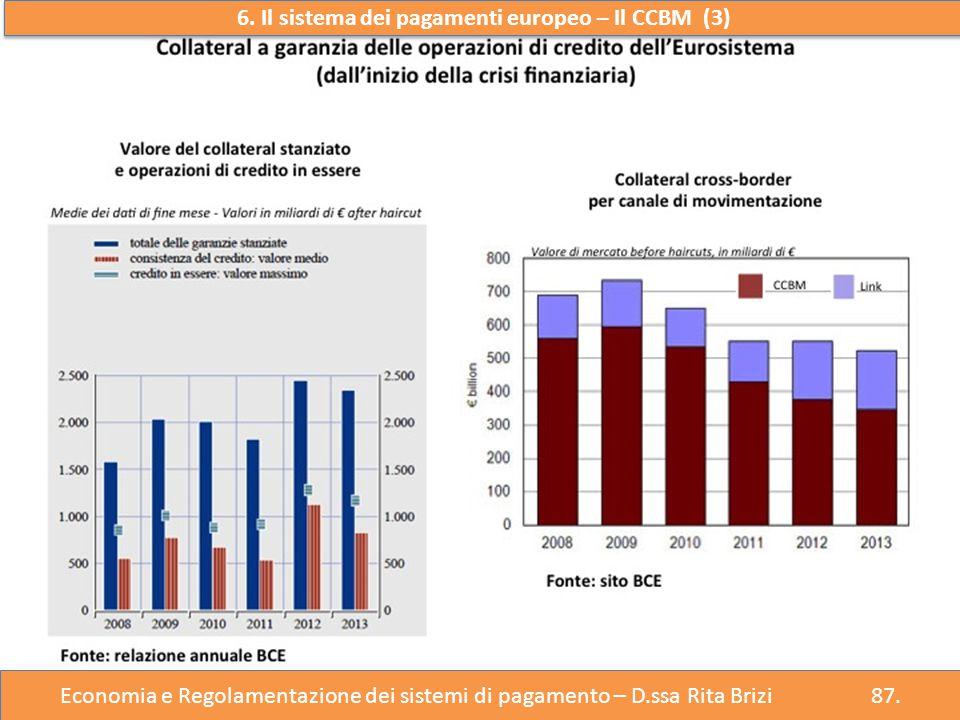 6. Il sistema dei pagamenti europeo – Il CCBM (3)