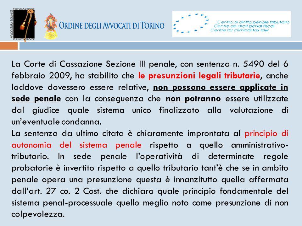 La Corte di Cassazione Sezione III penale, con sentenza n