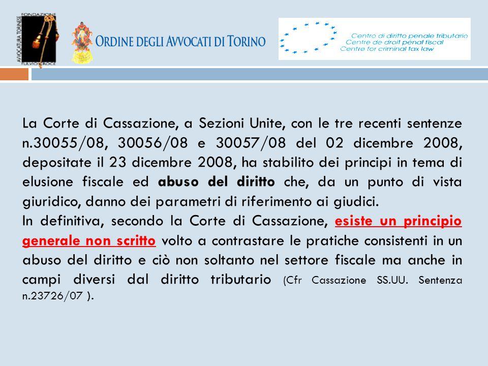La Corte di Cassazione, a Sezioni Unite, con le tre recenti sentenze n