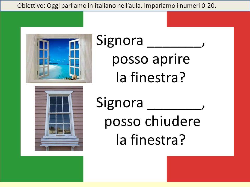 Signora _______, posso aprire la finestra Signora _______,