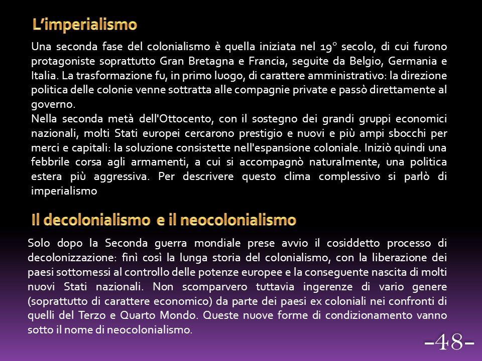 Il decolonialismo e il neocolonialismo