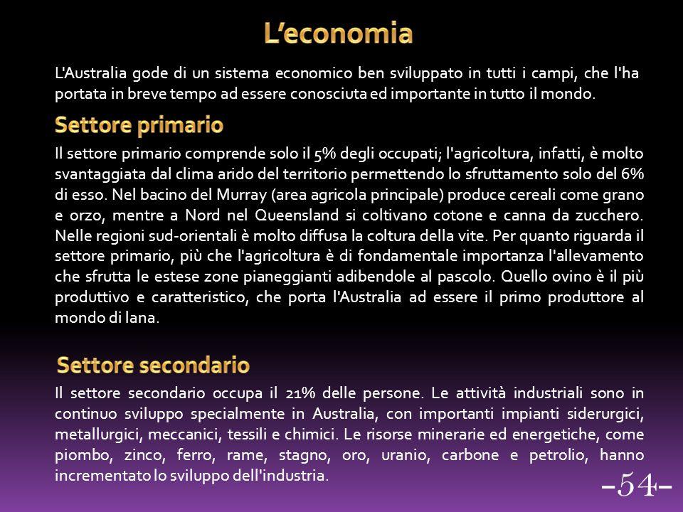 -54- L'economia Settore primario Settore secondario