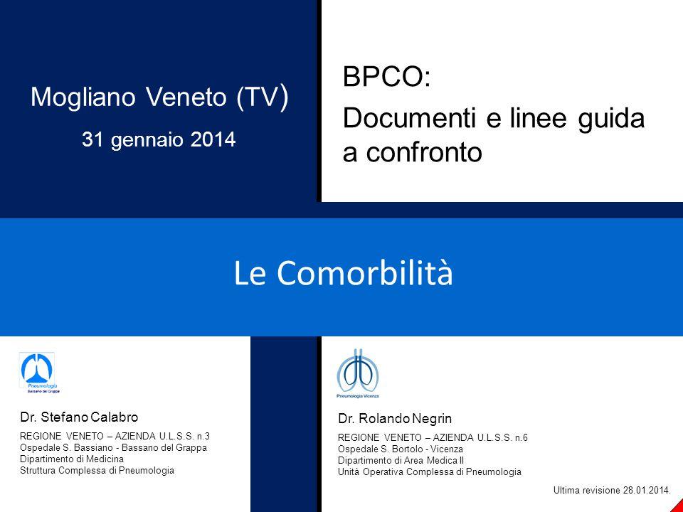 Le Comorbilità BPCO: Documenti e linee guida a confronto