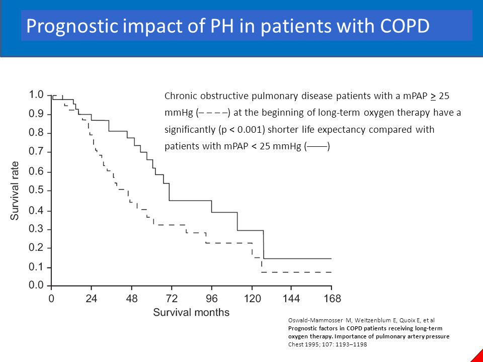 Prognostic impact of PH in patients with COPD