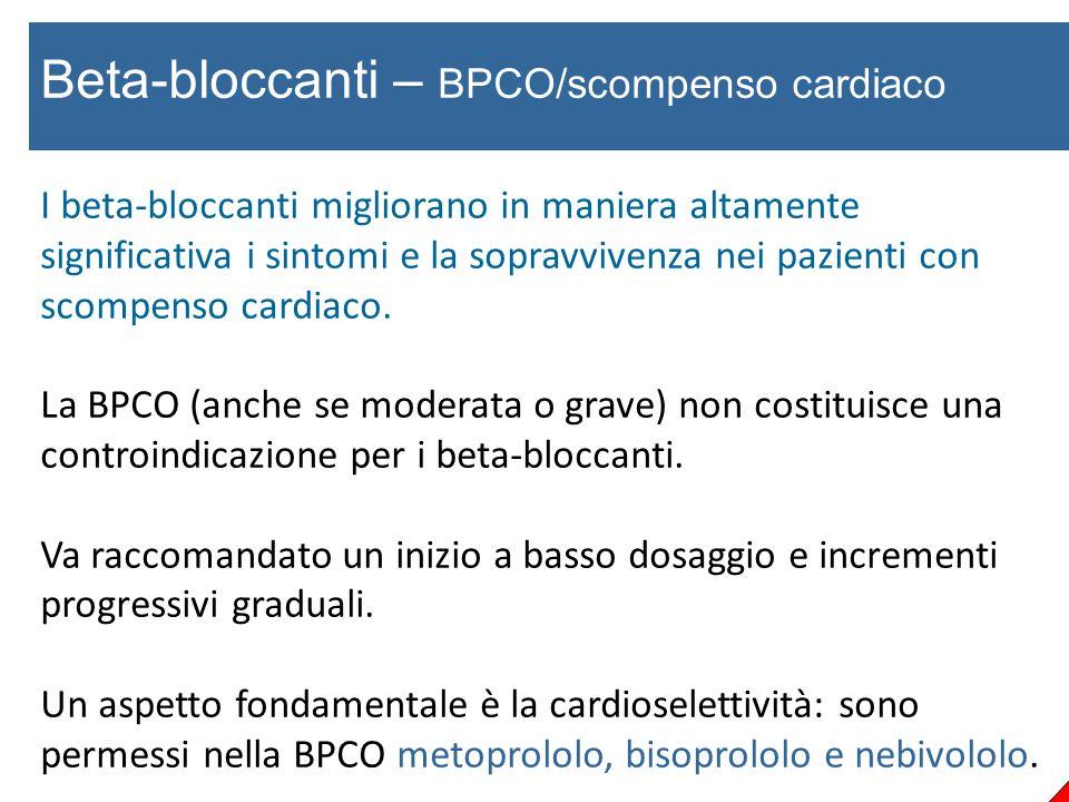 Beta-bloccanti – BPCO/scompenso cardiaco