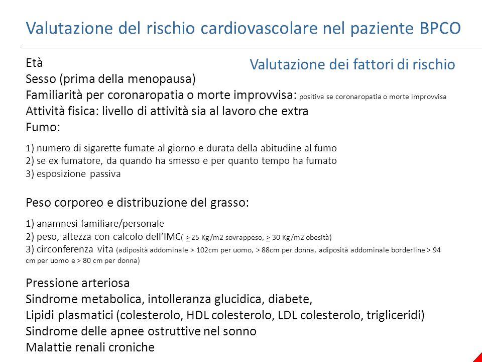 Valutazione del rischio cardiovascolare nel paziente BPCO