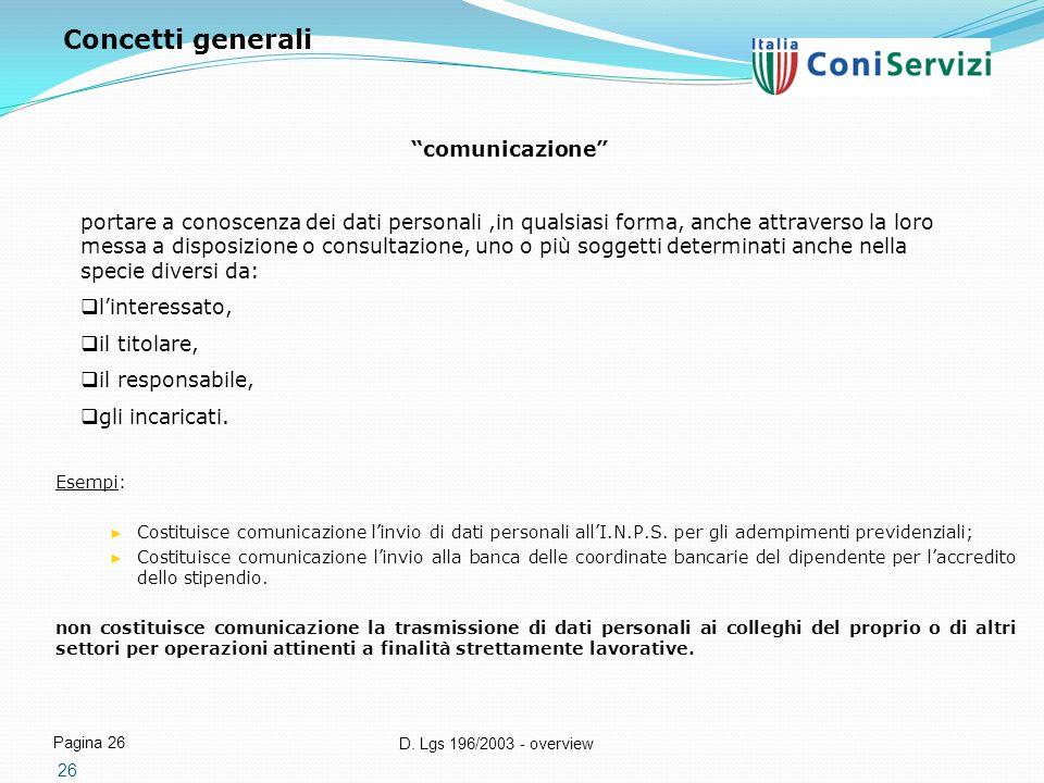 Concetti generali comunicazione