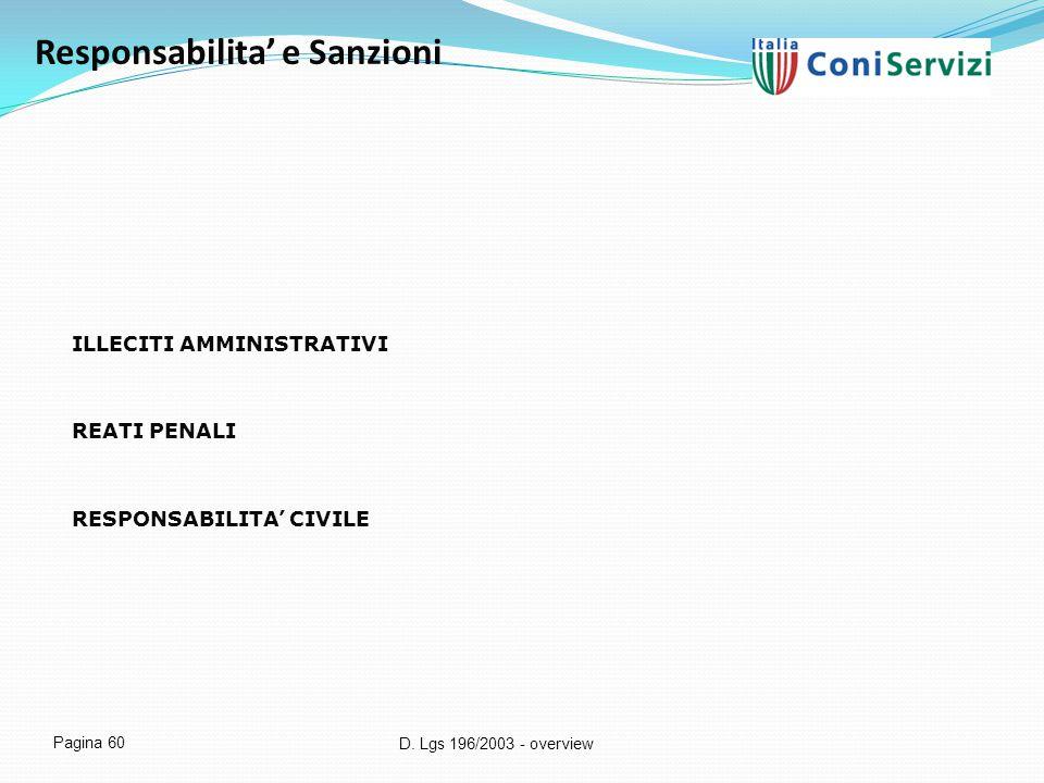 Responsabilita' e Sanzioni
