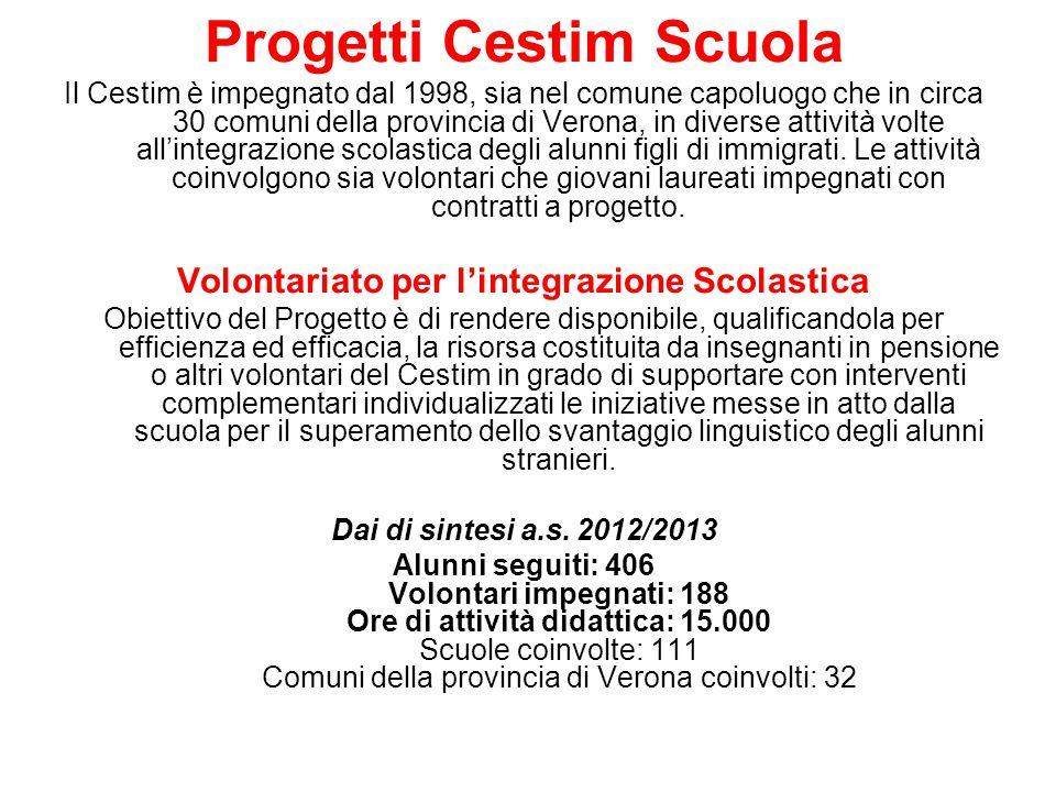 Progetti Cestim Scuola Volontariato per l'integrazione Scolastica