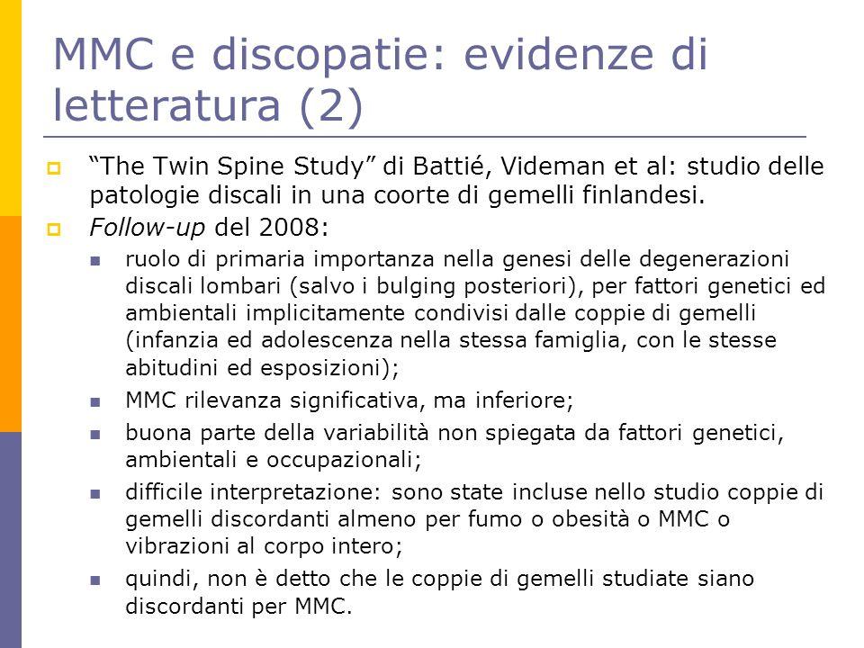 MMC e discopatie: evidenze di letteratura (2)