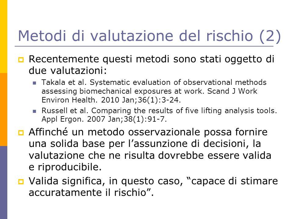 Metodi di valutazione del rischio (2)