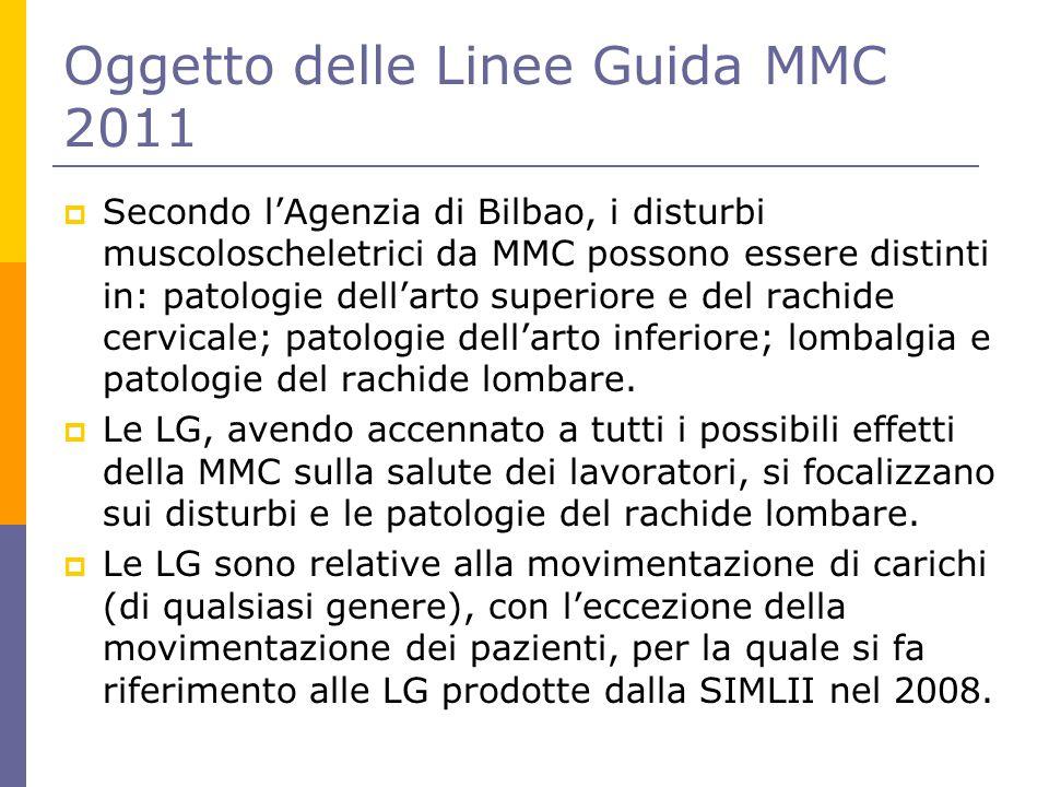 Oggetto delle Linee Guida MMC 2011