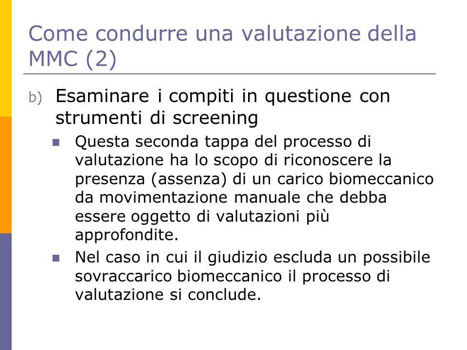 Come condurre una valutazione della MMC (2)