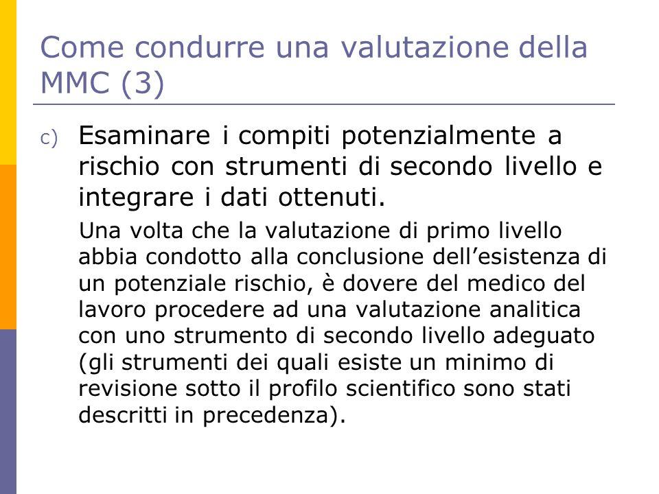Come condurre una valutazione della MMC (3)