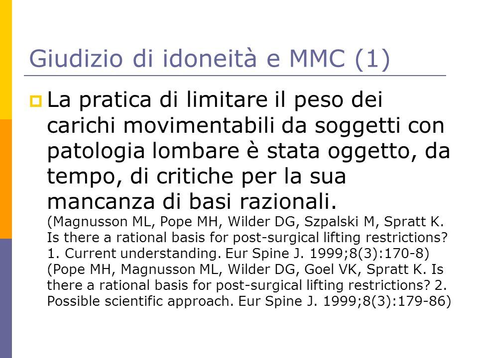 Giudizio di idoneità e MMC (1)