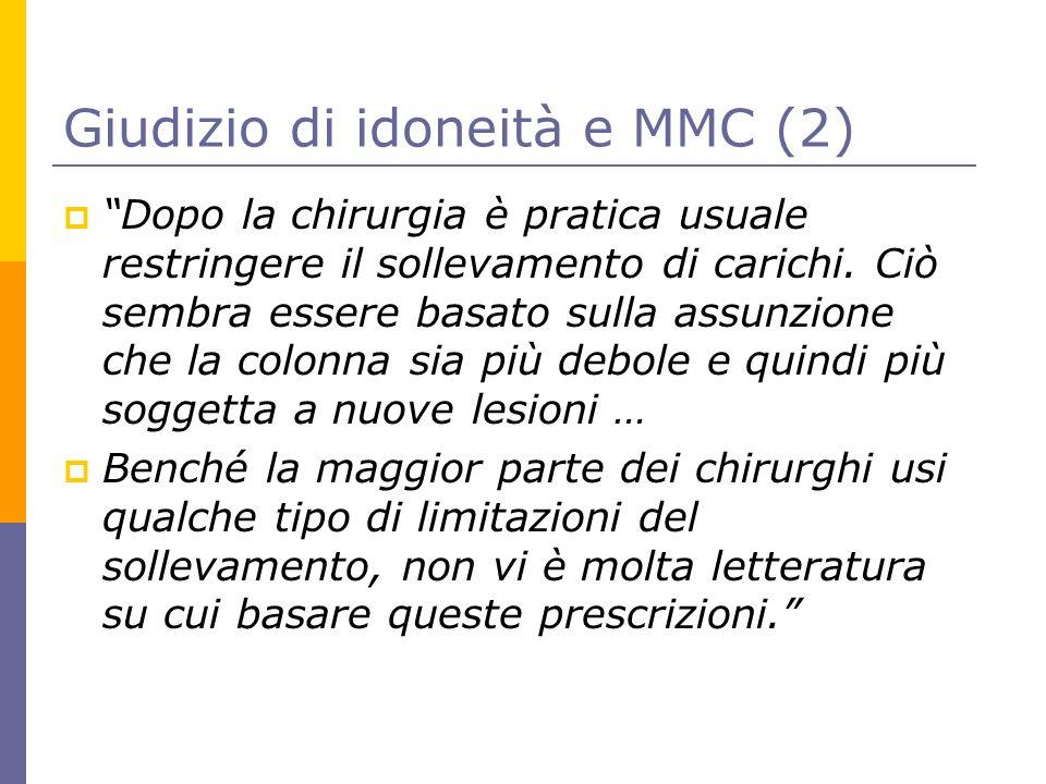 Giudizio di idoneità e MMC (2)