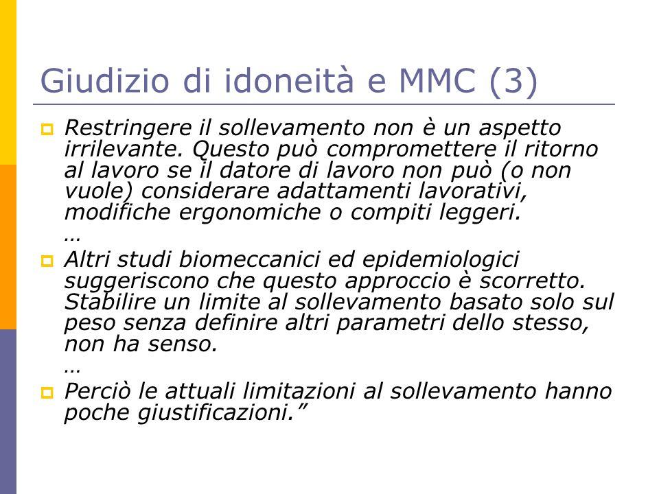 Giudizio di idoneità e MMC (3)