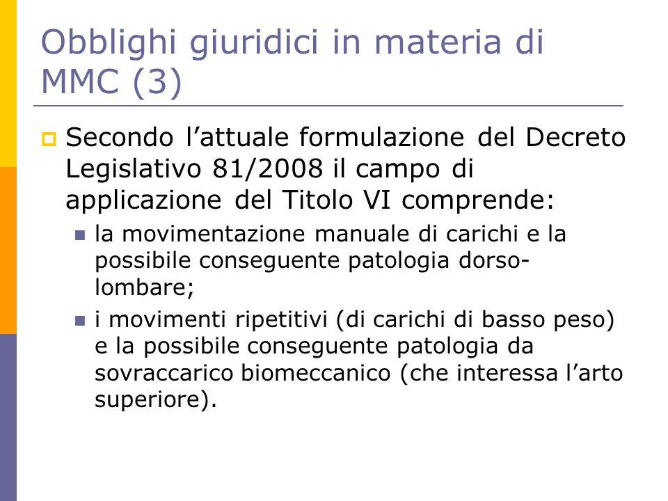 Obblighi giuridici in materia di MMC (3)