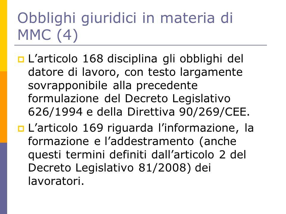 Obblighi giuridici in materia di MMC (4)